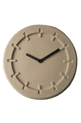 Pulp Time Round Clock Natural - zuma design